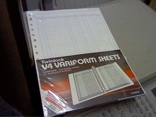 TWINLOCK V4 VARIFORM 14 COLUMN CASH SHEETS REF:75934 (PACK OF 75)LOW PRICED ITEM