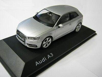 Genuine Audi A3 8V 1:43 Scale Model - Silver - NEW SHAPE A3 2013MY