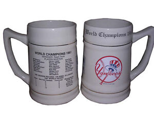 New York Yankees 24oz 1961 World Series Championship Stein Tankard Mug NEW