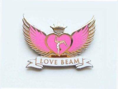 Love Beam Gymnastics Lapel Pin SPECTACULAR NEW DESIGN