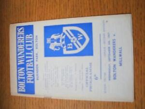 06-09-1967-Bolton-Wanderers-v-Millwall-Item-In-very-good-condition-unless-pre