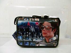 Michael Jackson World Tour PVC notebook BAG & Shoulder Messenger BAG