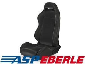 Racing Seat vorne Schwarz Rennsitz Sportsitz Sitz Jeep CJ Wrangler YJ TJ 76-06