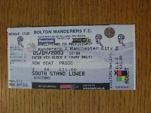 05-04-2003-Ticket-Bolton-Wanderers-v-Manchester-City-complete-No-obvious-fa