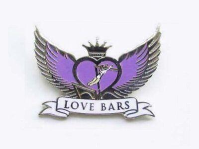 Love Bars Gymnastics Lapel Pin SPECTACULAR NEW DESIGN
