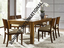 European Style Wooden Dining Set ( 1 Table + 6 chairs )