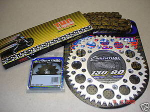 O-Ring-Chain-And-Silver-Renthal-Sprocket-Kit-CR-CRF-125-250-450-500-R-X-88-13