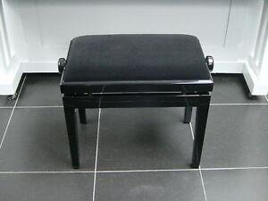 nouvelle banquette noir si ge tabouret de piano neuf guitare ebay. Black Bedroom Furniture Sets. Home Design Ideas