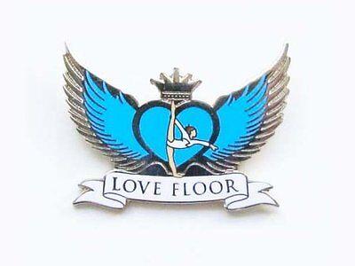Love Floor Gymnastics Lapel Pin SPECTACULAR NEW DESIGN