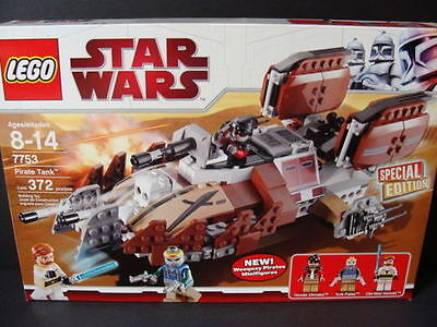 Lego Star Wars Pirate Tank 7753 Clone Ship Obi-wan Minifigures Weequay