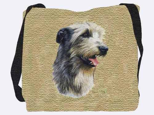 Woven Tote Bag - Irish Wolfhound 3323 IN STOCK