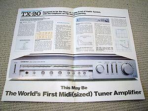 Onkyo-TX-20-receiver-brochure-catalogue