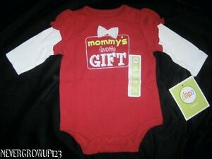 NEWBORN-CIRCO-RED-MOMMYS-FAVORITE-GIFT-BODYSUIT-CREEPER-SNAP-T-SHIRT-NWT