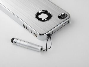 Silver-Luxury-Aluminum-Chrome-Cover-Case-For-iPhone-4-4G-4S-Protector-Stylus