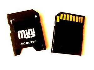 MINI SD SDHC MEMORY CARD ADAPTER to STANDARD SD / CONVERTER