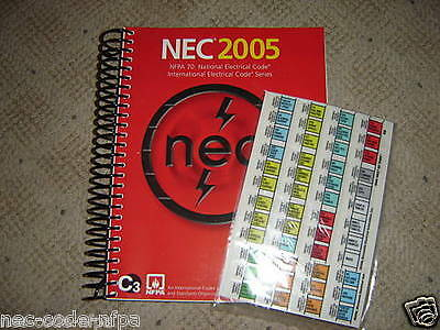 2005 Nec National Electrical Code W/ Ez Tabbed Spiral Bound