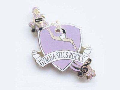 Gymnastics Rocks Lapel Pin CREATIVE NEW CUTOUT DESIGN