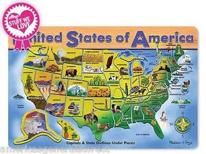 USA-MAP-WOODEN-PUZZLE-45-pieces-jigsaw-capital-state-wood-by-Melissa-Doug