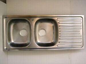 Lavello da cucina 2 vasche gocciolatoio sgocciolatoio - Sifone lavello cucina ...