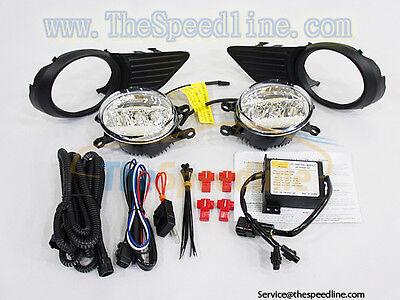 11 12 13 14 15 TOYOTA Sienna LED DRL Fog Lamp Light Kit SAE E9 (Style: OEM)