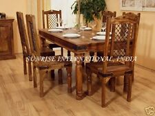 Indian Jali Furniture - Wooden Dining Set ( 1 table , 6 chairs  )