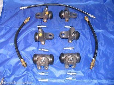 6 Wheel Cylinders Brake Hoses 1946 47 48 49 50 DeSoto