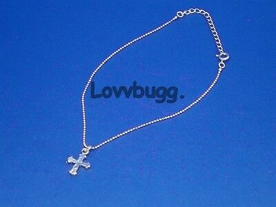 "Lovvbugg Cross Necklace Jewelry for 18"" American Girl Doll Clothes Accessory"