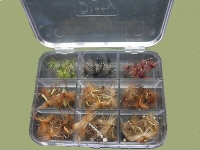 68 Daddy Long Legs & Hopper Trout Flies Presentation Boxed Set, Mixed Sizes