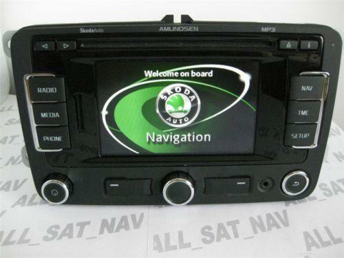 skoda sat nav gps systems ebay. Black Bedroom Furniture Sets. Home Design Ideas