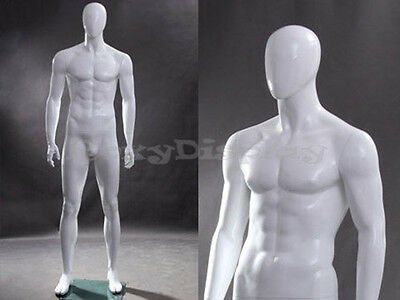 Male Fiberglass Egg Head Mannequin Dress Form Display Mz-wen4eg