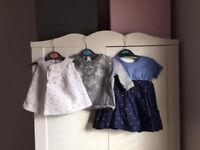 bundle baby girl Next dress River Island jumper Zara mini spotty top 0-3 months