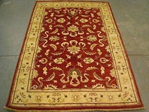 Exclsuive Rare Chobi Mahal Zeigler Vege Dyed Wool Area Rug Hand Knotted Carpet (6.6 x 4.6)'