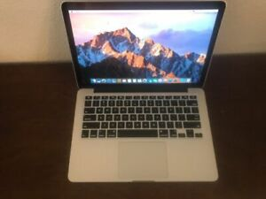 Retina 13 Macbook pro,3.1GHZ i7,16GB,120GB,10.12,CS6,LP,FCP