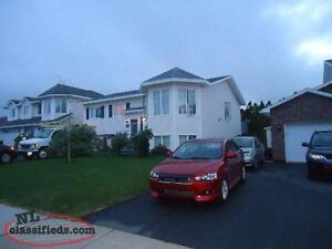 Beautiful 2 apartment family home in Westbrook Landing Mt. Pearl