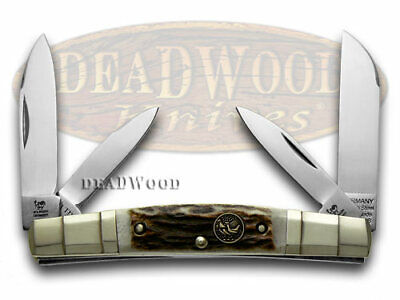 Hen & Rooster Stag Congress Pocket Knife 324C-DS Knives German