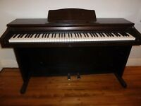 Casio Celviano AP-10 digital piano in mahogany,full size 88 keys 2 pedals, cover