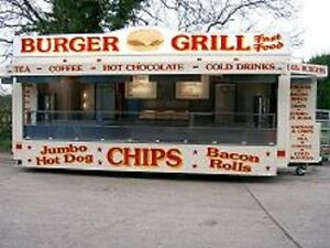 22 ft. Mobile Catering Trailer for Sale / Showmans Range TYPE APPROVED