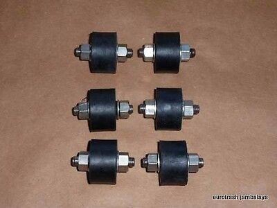 NORTON 750 850 COMMANDO STAINLESS ISOLASTIC MOUNT SET 06-0622 X6