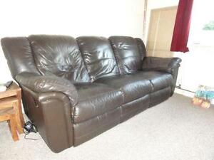Brown Leather Recliner Sofas