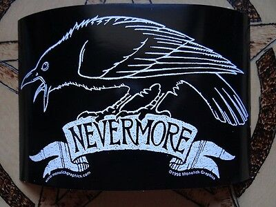 NEVERMORE Poe Raven Small Bumper Sticker Window Sticker Decal Wiccan Pagan