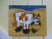 Vintage Cow Painting