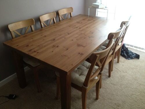 For Ikea Forsby Solid Pine Dining Table 30