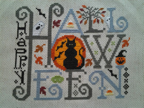 "Finished Cross Stitch ""Halloween"", Silver Creek"