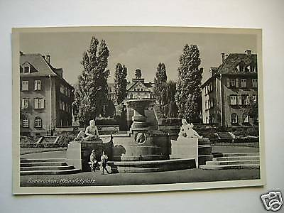 AK Zweibrücken Mannlichplatz Brunnen