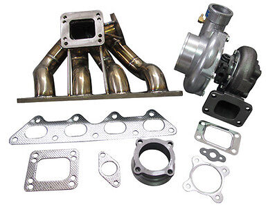 CXRacing T3 T4 GT35 Turbo Manifold 89-99 Eclipse 1G 2G Eagle Talon 4G63
