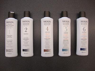 Wella Nioxin Cleanser Shampoo 300 ml System 1 bis 6 ( 1 L = 36,50 Euro) (Nioxin System 1 Cleanser)