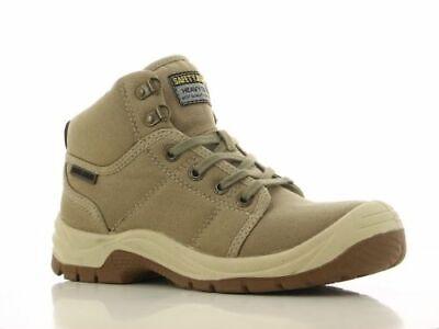 Toe Desert Boot (Men Work Boot Safety Jogger Desert Hi Top Steel Toe Khaki Taupe 100%)