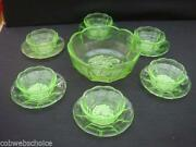 Art Deco Uranium Glass