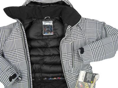 NEW Burton AK 2L LZ Down Gore-Tex Jacket Mens XS Black/White Gingham Extra Small