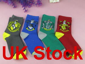 UK-Harry-Potter-sock-Purified-Cotton-embroidery-GRYFFINDOR-SLYTHERIN-RAVENCLAW